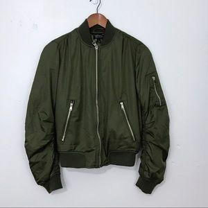 Topshop MA1 Olive Green Bomber Jacket